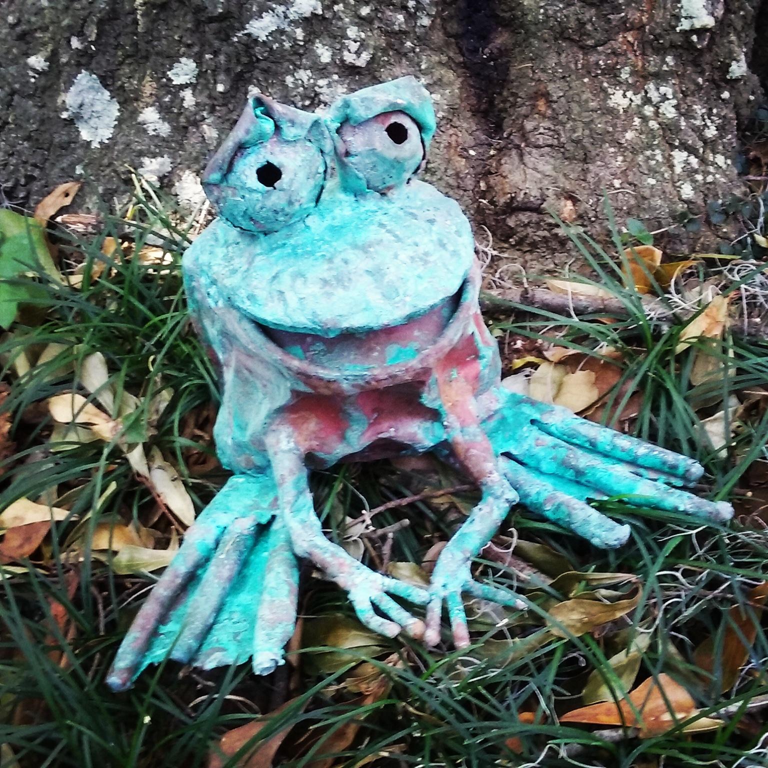 Frog, copper, metal, art, sculpture, Beau Smith, Todd Miller
